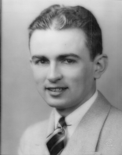 Possibly high school graduation picture of Kenneth L. Garrett