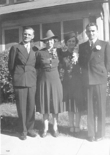 Left to right: Harley Garrett; Lorena Floye Garrett; Marian Garrett; Kenneth Garrett 4 September 1939