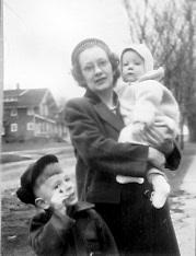 Kenneth, Marian holding Craig Lorimor, Iowa, 1948