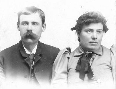 William Harvey Shutts and Clementine Minerva DeMoss Wedding photo, 1893. This is the only known picture of William Shutts