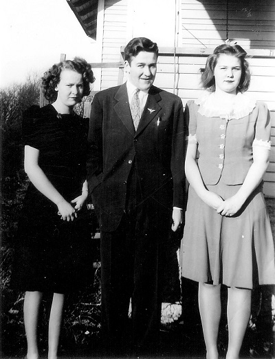 Shirley, Maynard, and Helen Jones Undated photo, probably early 1940s, unknown location