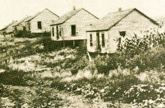 Coal mining camp housesabout 1900. Location unknown