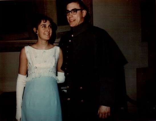 Kendra Jones and Craig, Spring Hop, USMA, 1966 Note especially Kendra's long gloves