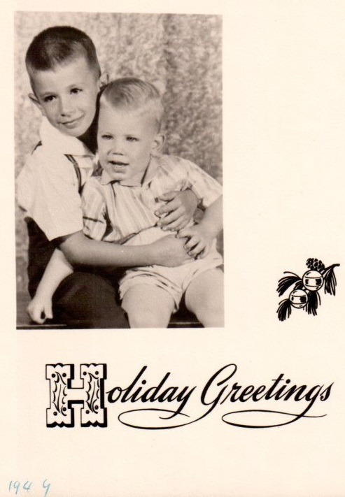 Christmas Card, taken August 1949