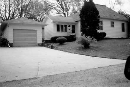 First rental house in Colfax, Iowa 226 S. Iowa, 1954 to ?1955
