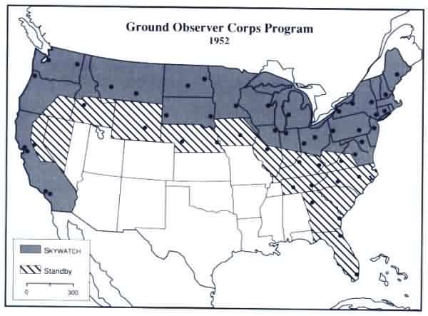 Ground Observer Corps Program 1952