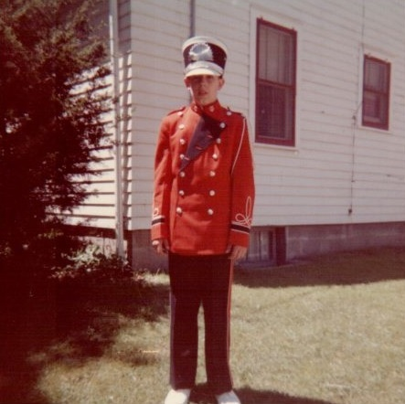Craig Garrett, Colfax Band Uniform, about 1959 These uniforms were only several years old and replaced black ones.