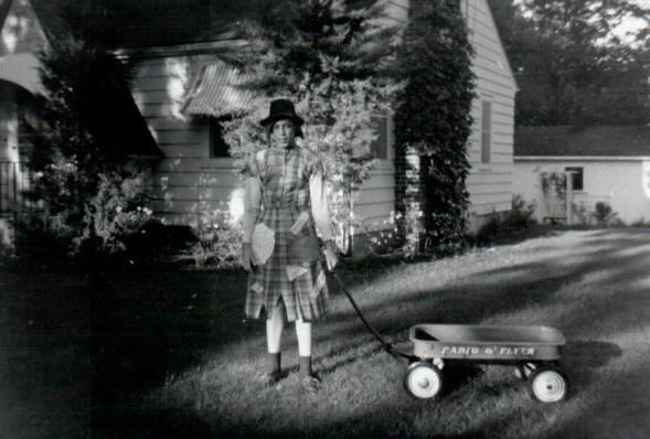 Craig Garrett, Freshman initiation, fall 1961 Photo at 219 S. Locust, Colfax, Iowa