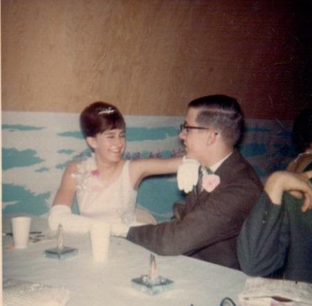 Kendra and Craig at Prom at Legion Hall