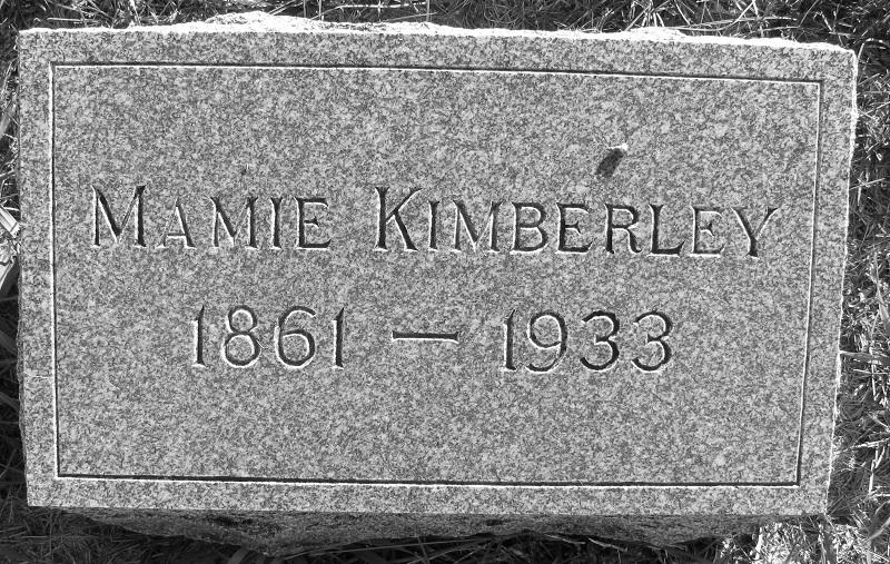 Emma (Mamie) Jane Garrett Kimberley Cemetery Marker