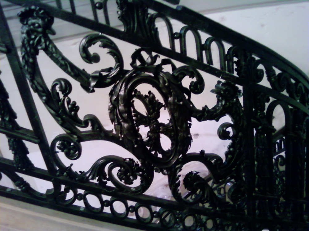 Baroque Staircase Railing, NYC, Central Panel