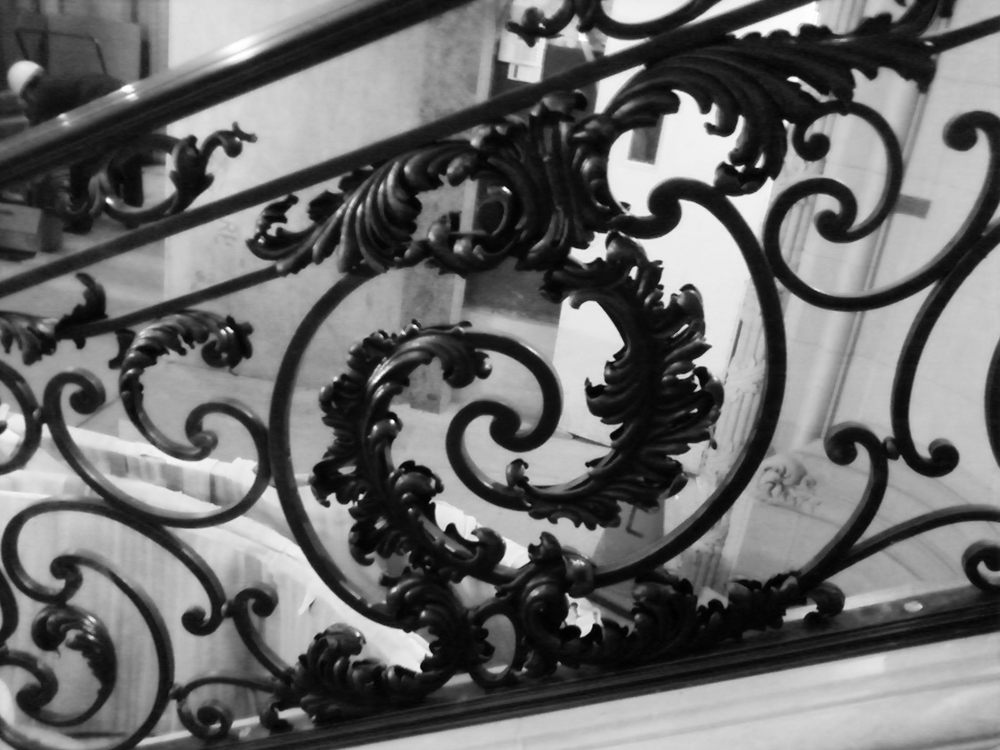 Baroque Staircase Railing, NYC, Leafwork