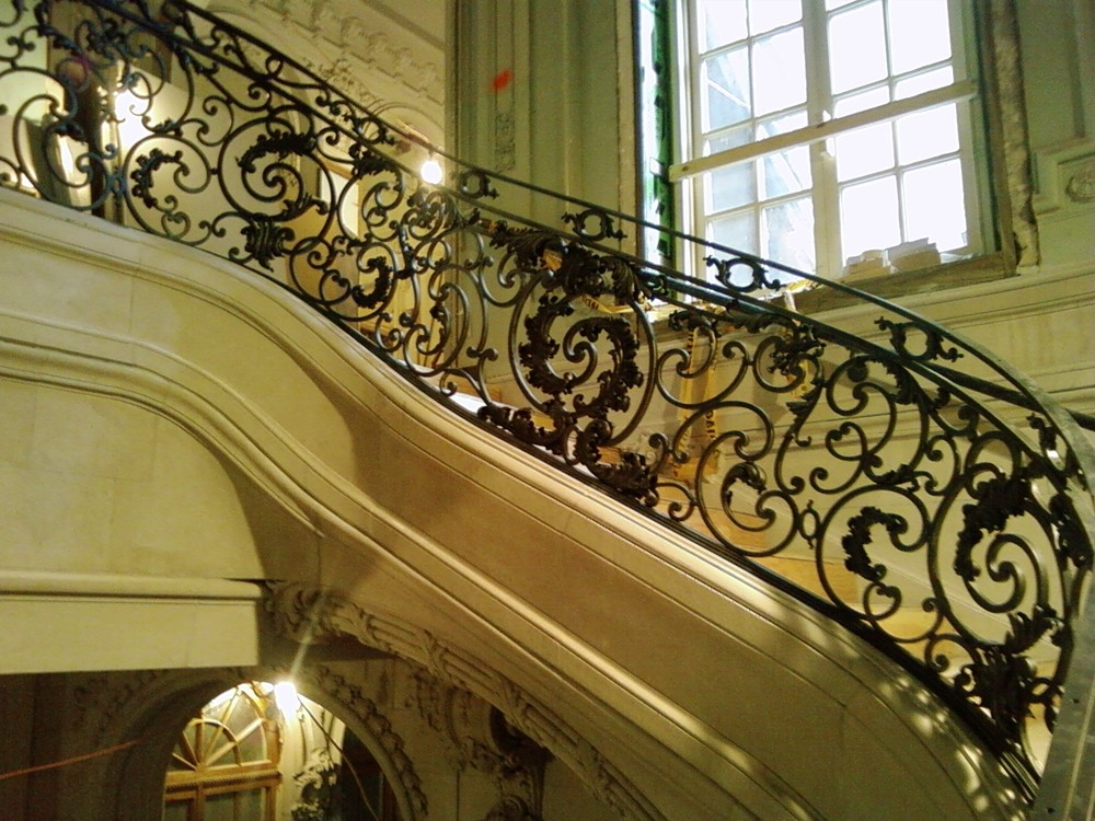 Baroque Staircase Railing, NYC, 2nd Story