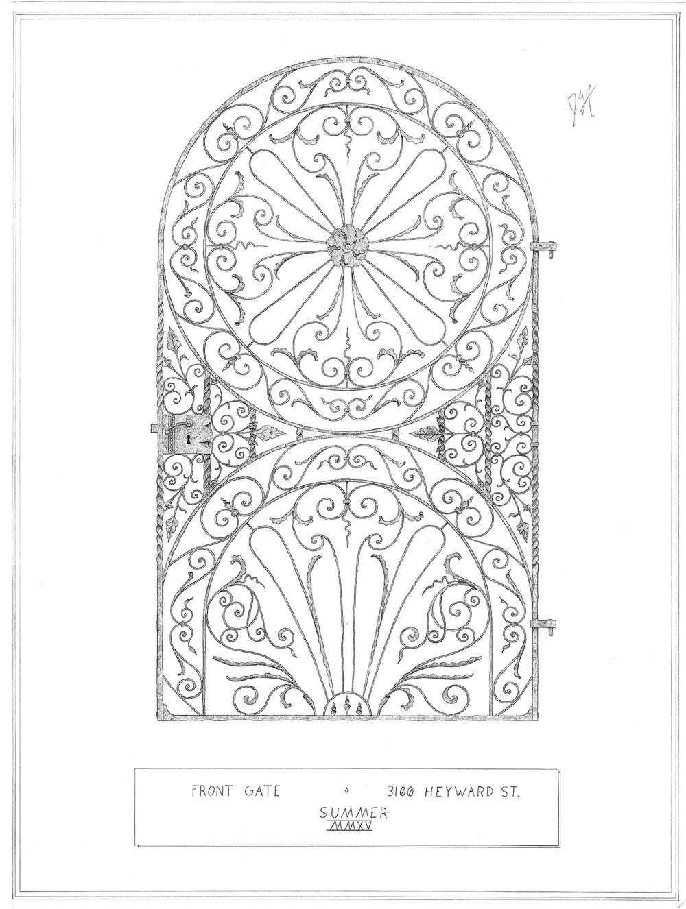 Charleston Style Entry Gate, Columbia