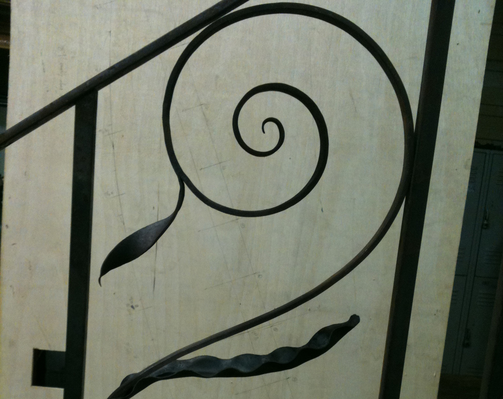 Old City Jail Staircase Railing, Charleston, Scroll Element