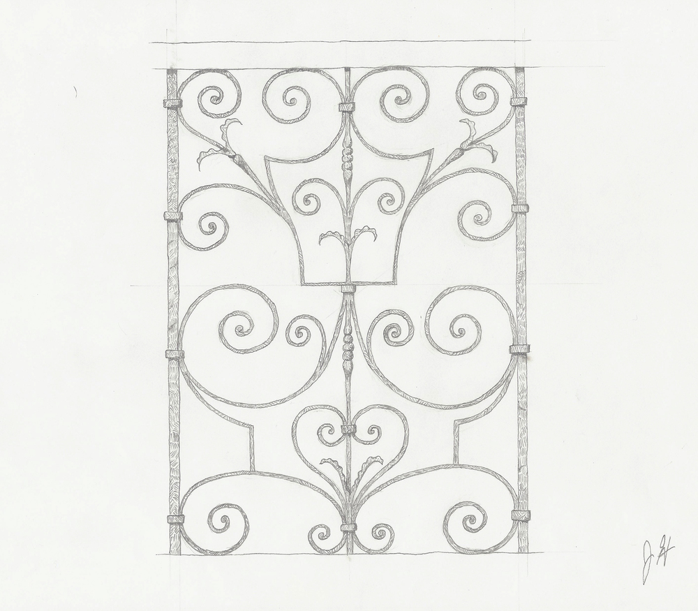 """King's Staircase"" Railing, Kensington Palace, Rendering"