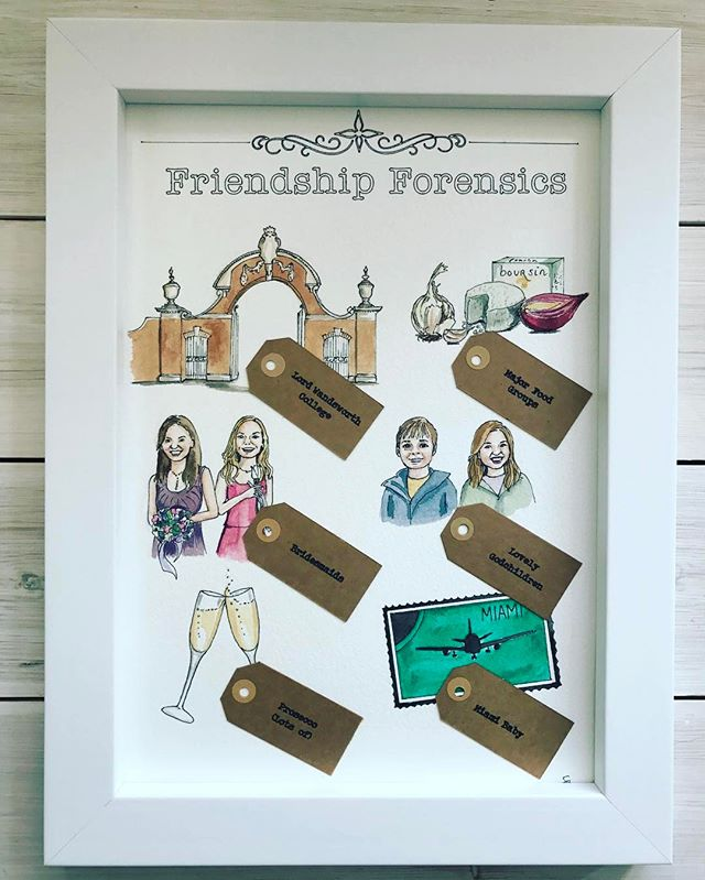 If friendship were a crime, what would be your evidence? New product idea for fabulous friends #friendship #forensics #bespokeillustration #perfectpresent #oneoffwonder