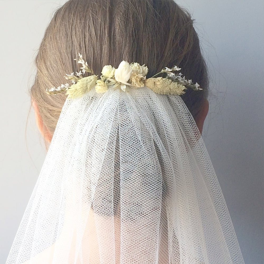 Sussex veil rustic veil with dried flowers pelican rose bride izmirmasajfo