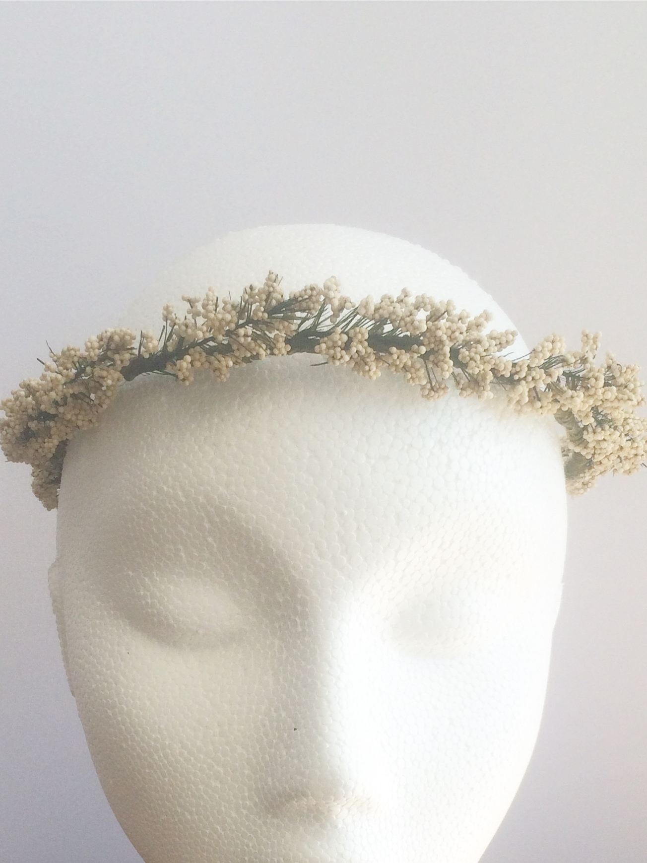 Camelford Flower Crown Babys Breath Artificial Flower Crown