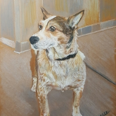 """Virgil"" All pastels SOLD"