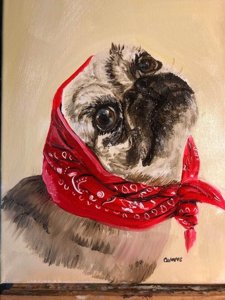 Oil Portrait: Gertie  Sold