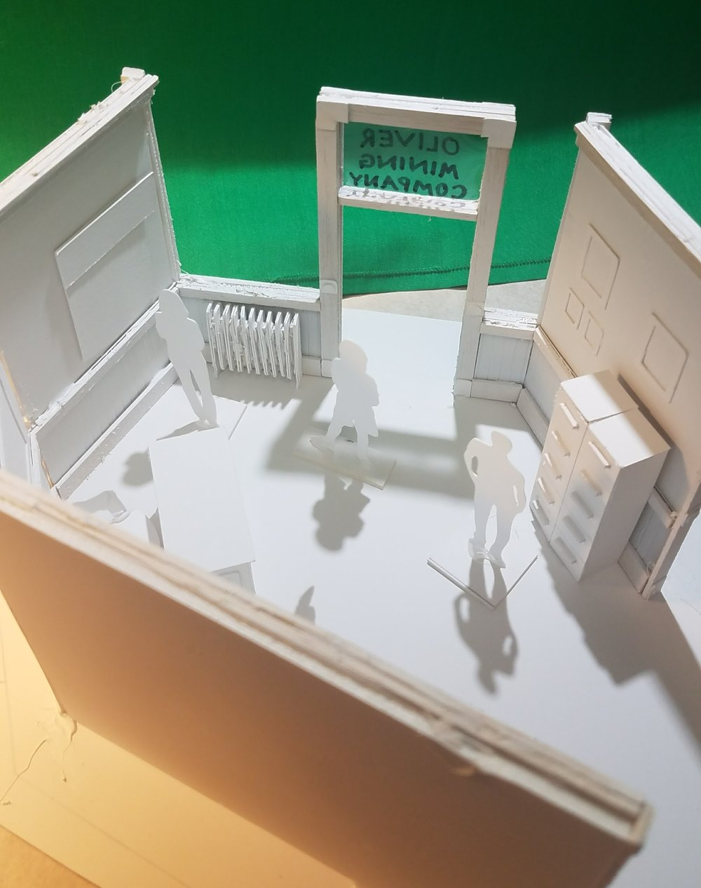 Labor exhibit model (1st draft) for Minnesota Discovery Center, Chisholm, MN -- exhibit design