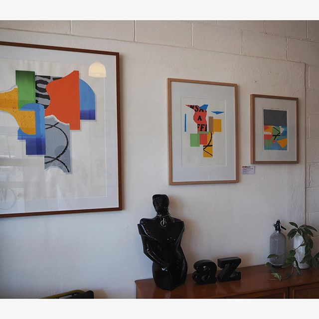 2/4: Some snaps of my work currently on display at @vintagecarouselsa until December 20th! . #adelaideart #adelaideartists #adelaidearts #screenprint #printmaking #worksonpaper #abstractart #lifemoreinteresting #bowdensa #vintagecarouselsa #joshuasearson