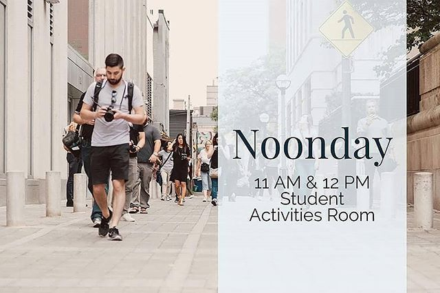 NOONDAY tomorrow @ 11 & 12 in the BOARD ROOM. Maplewood Baptist Church is providing Mexican!!! Don't forget it's FREE so come join us!!
