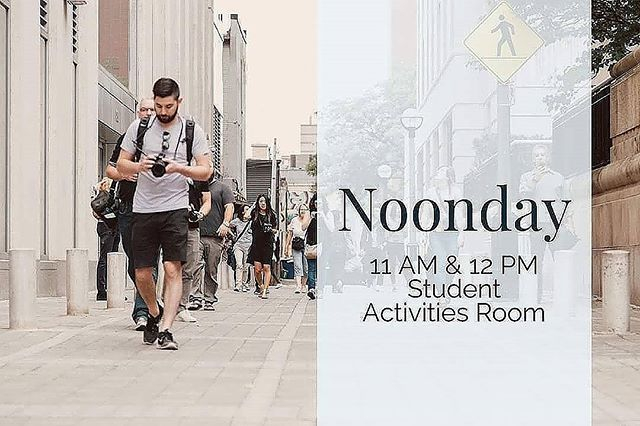 Noonday is tomorrow in VLow from 11-1! First Baptist Trezevant will be providing our lunch. Last one of the semester, so come join us!!!