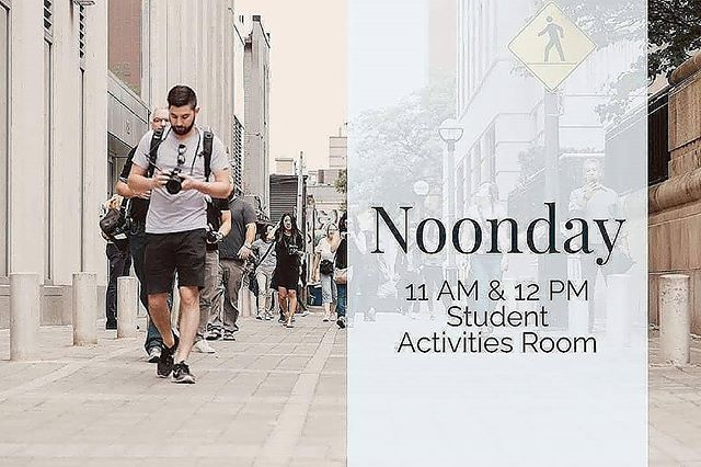Noonday today in VLow from 11-1!! FBC Trezevant will be providing lunch for us. Don't forget, last Noonday of the semester so come join us!!!