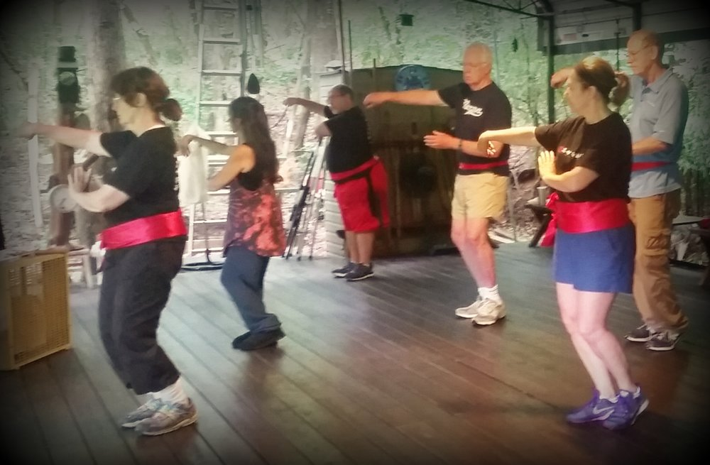 WudangShan taijiquan practice at the black bamboo pavilion