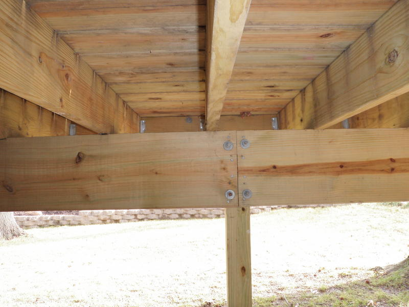 how to join pergola beams