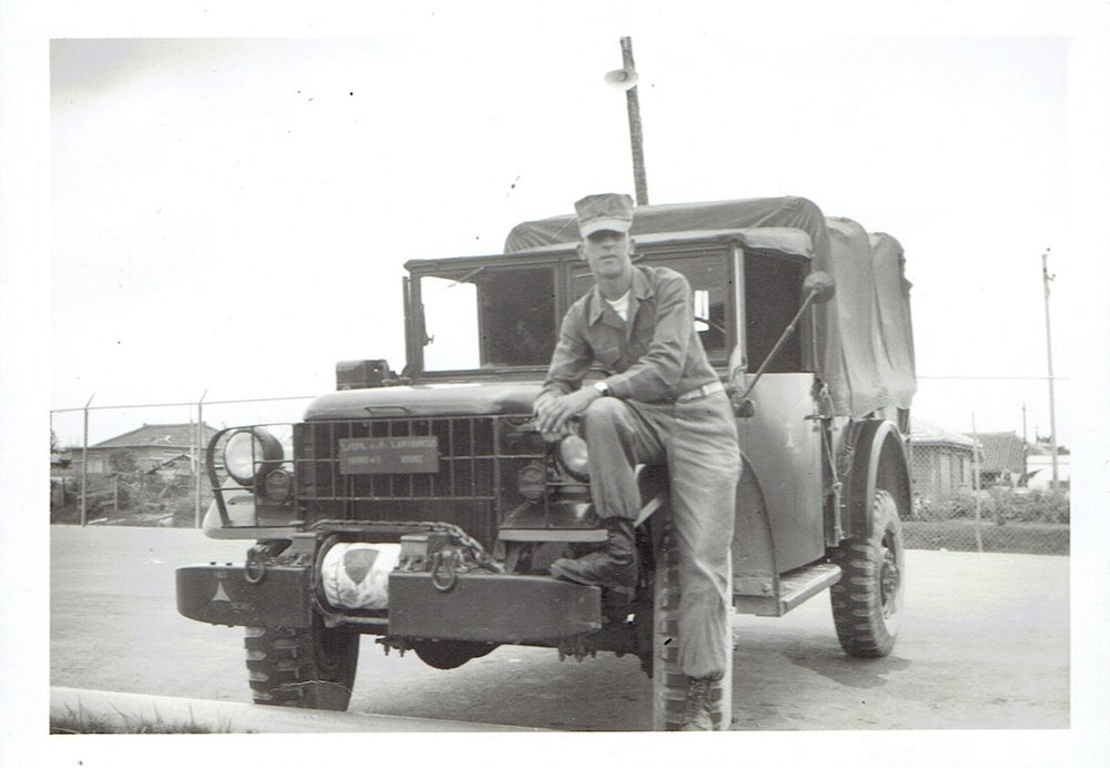 A R Lamoureux and Truck Okinawa.jpg