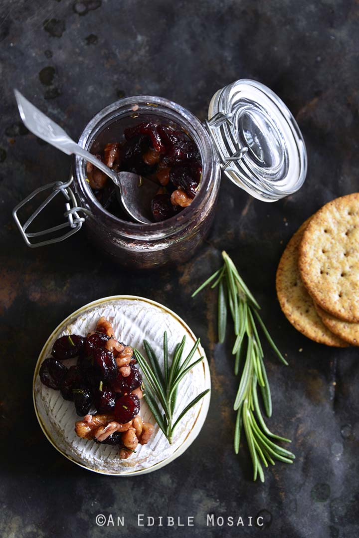 Baked Goat Brie with Spiced Rosemary-Scented Honey and Red Wine Cranberries 2.jpg
