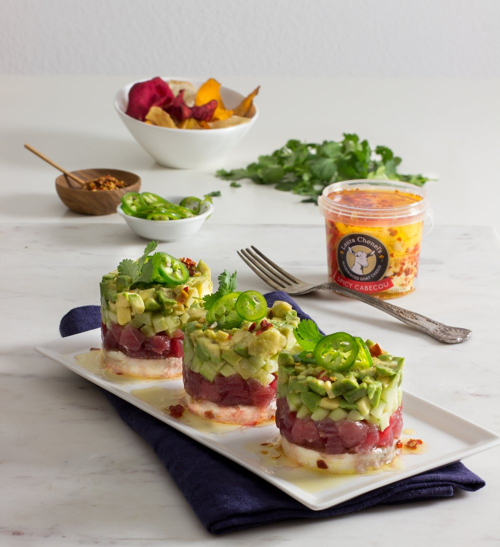 Spicy Cabecou and Ahi Stacks.jpg