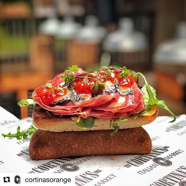 "@cortinasorange has taken ""sandwich"" to the next level! And our ash-rinded buchette - a gold🥇 winner at the World Cheese Awards competition - is included! #goatcheese #cheeseeveryday #chevre"