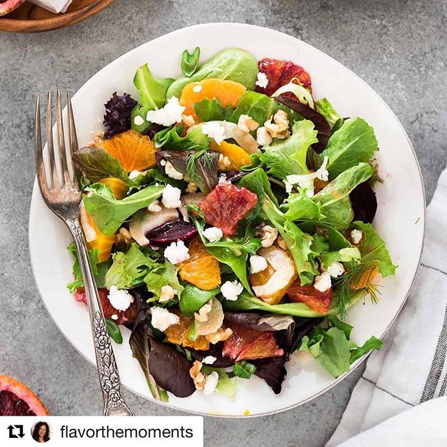This wonderfully refreshing salad by @flavorthemoments includes lots of citrus ... and chèvre, of course!