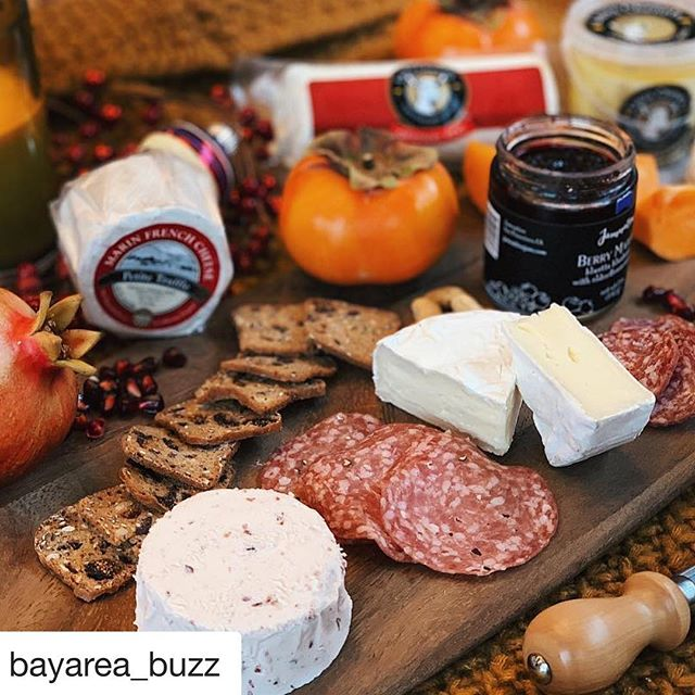 We've partnered with @bayarea_buzz for a cheesy giveaway! Hop on over to their account and find this photo for details! #goatcheese #eatlocal #holidaycheese #giveaway