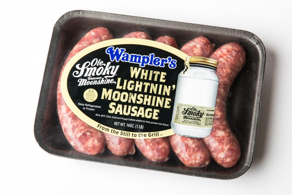 Wampler's Ole Smoky Moonshine White Lightnin' Sausage