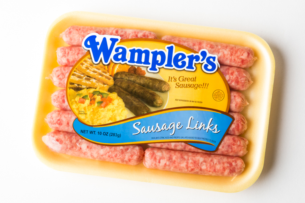 Wampler's mild sausage links tray