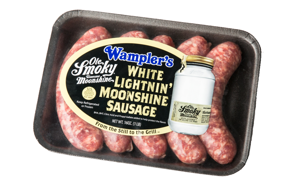 White Lightnin' Moonshine Sausage