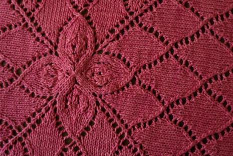 Lotus Baby Blanket Pattern 9 Stitches
