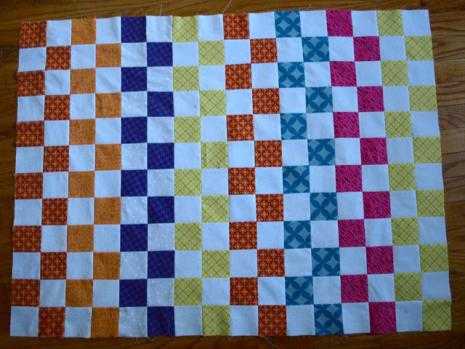 Scrap baby quilt