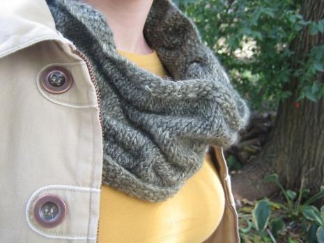 Knit cowl closeup