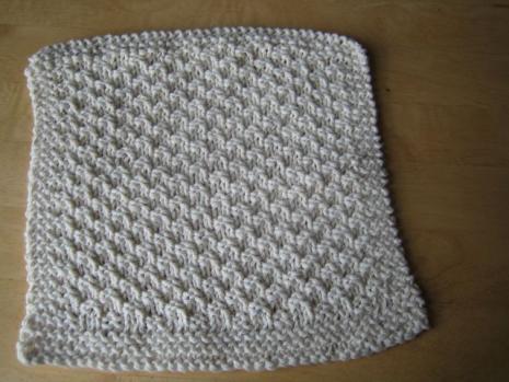 Seed Stitch Washcloth 9 Stitches