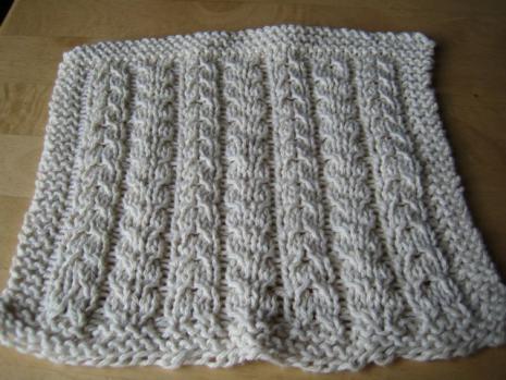 Bowlegged Washcloth 9 Stitches