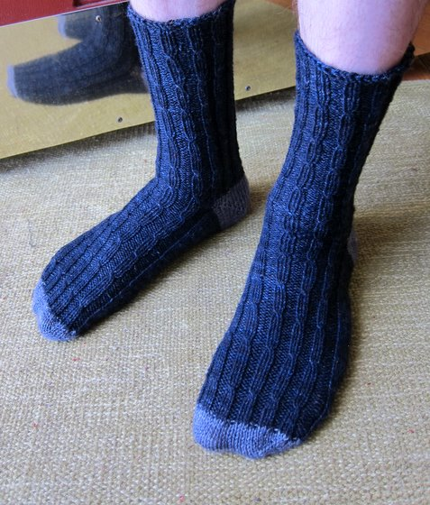 Full view of mens socks