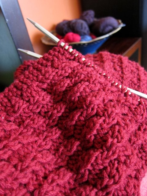 Easy Knitting Stitches For A Scarf : Red Redux   9 Stitches