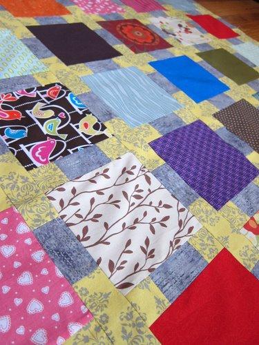 Baby scrap quilt.