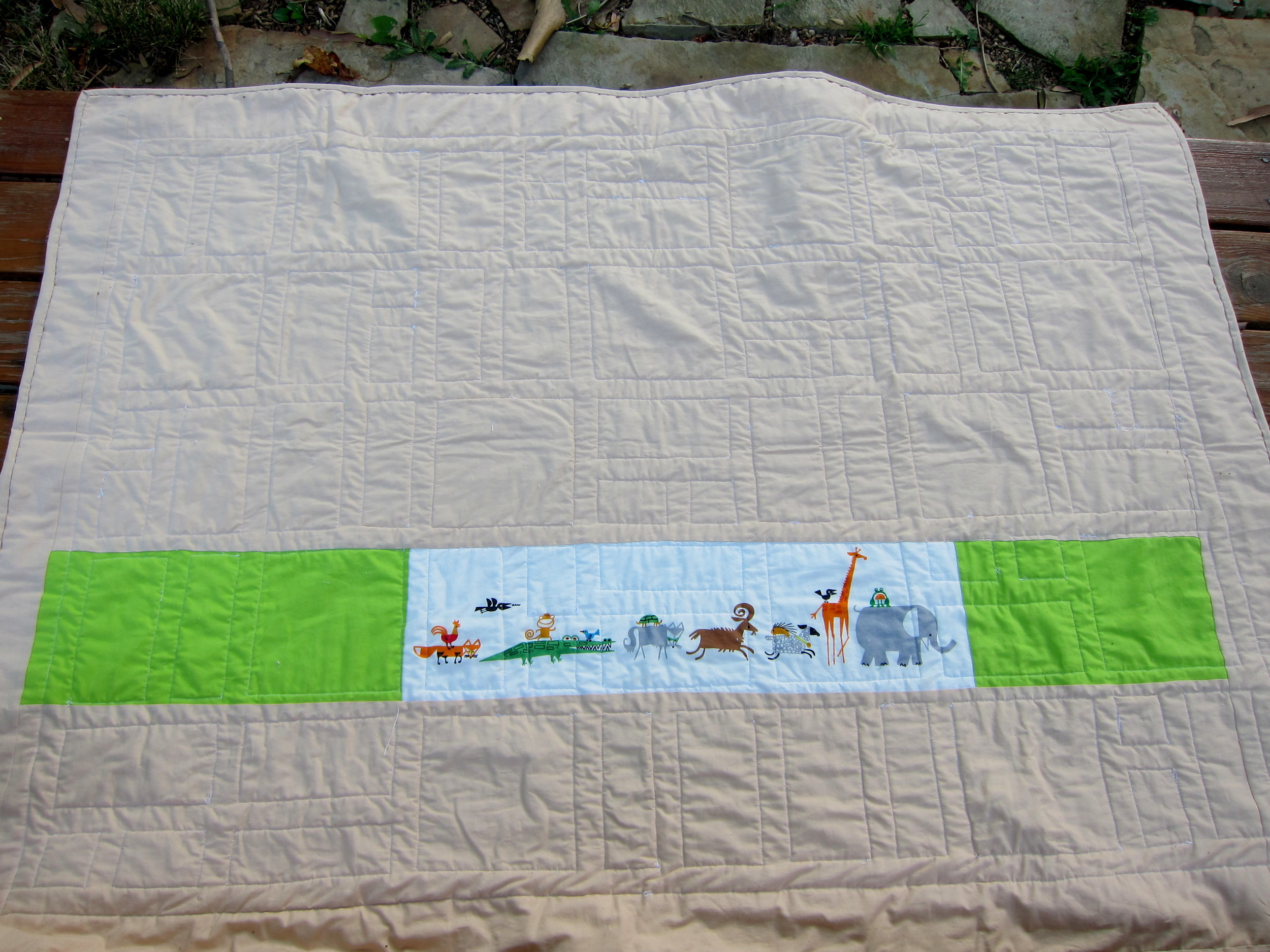Back of the fat quarter quilt